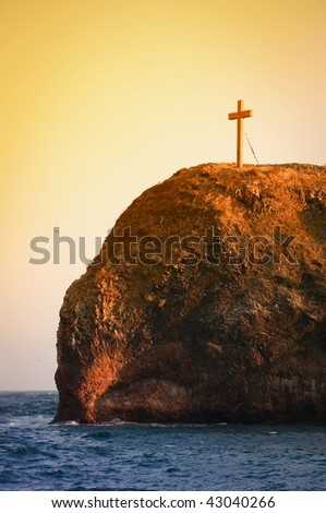 crucifix, Cape Fiolent - stock photo