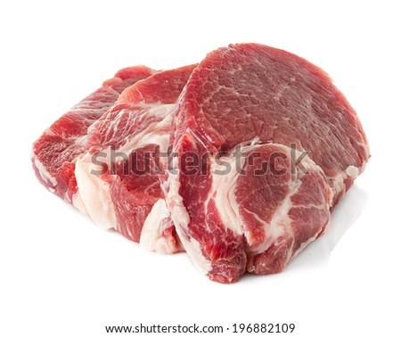 crude meat, steak - stock photo