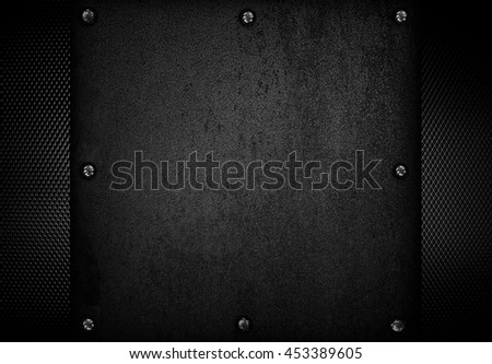crude metal with mesh background - stock photo