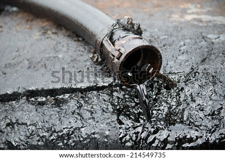 crude oil from oil well