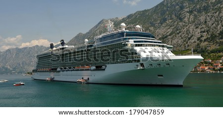 Cruise Europe. Panorama. Collection of yachts and ships - stock photo
