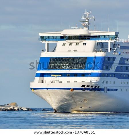 cruise ferry ship - stock photo