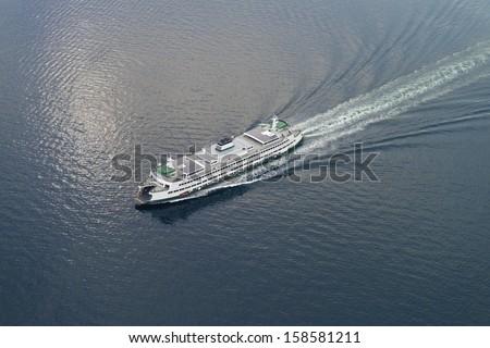 Cruise in the sea - stock photo