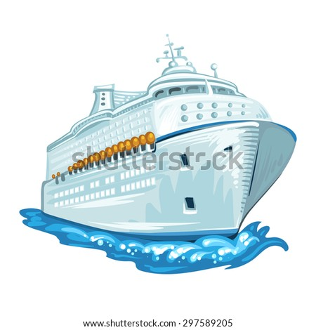 Cruise liner - stock photo
