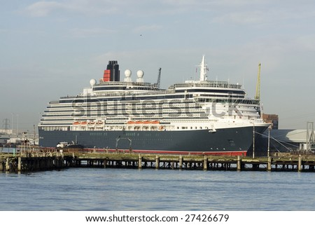 Cruise liner in home port of Southampton, UK - stock photo