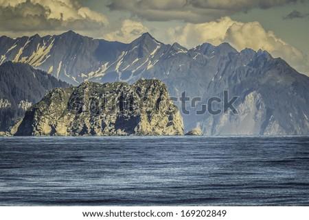 Cruise near Seward, Alaska, USA - stock photo