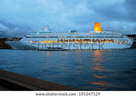 Cruise Ship at Sydney, Australia - stock photo