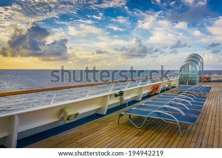 Cruise Ship Chairs - stock photo
