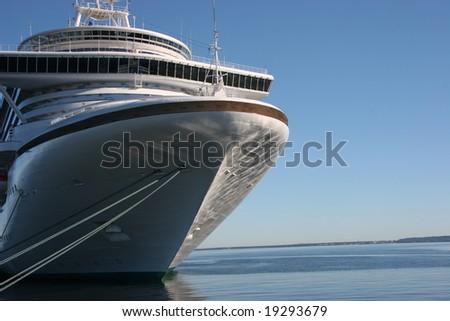 Cruise ship in Dock - stock photo