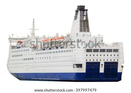 Cruise ship isolated - stock photo