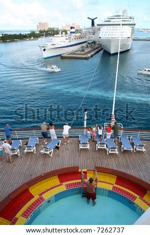 Cruise Ships Port Nassau Bahamas Stock Photo Shutterstock - Cruise ships to the bahamas