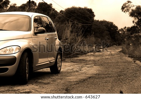 Cruiser on Dirt Toad - stock photo