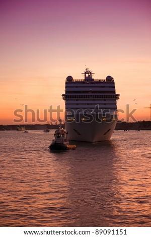 cruiseship - stock photo