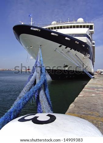 Cruiseship in Palma of Majorca (Spain) - stock photo