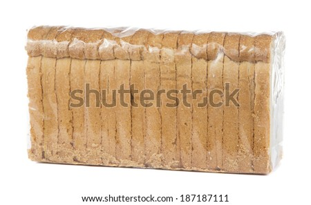 crumbs of bread sealed