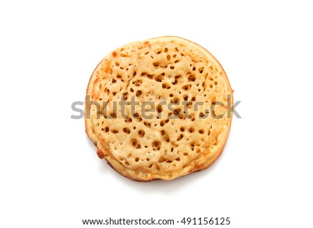 crumpet isolated on white background