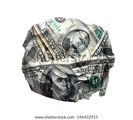 Crumple Dollars - stock photo