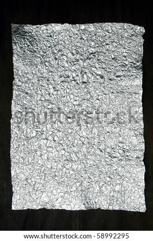 crumpled aluminum foil - stock photo