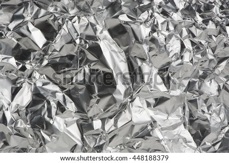 Crumpled Aluminum Foil as Background