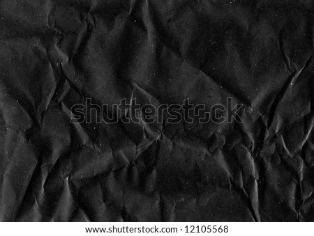 Crumpled Black Paper