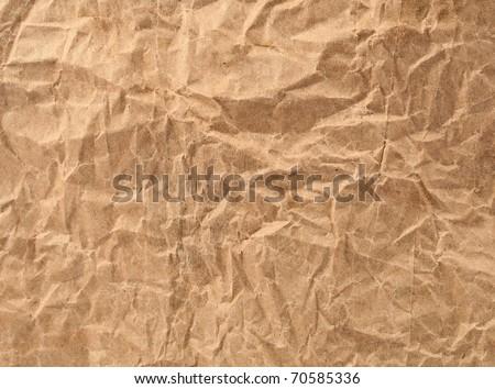 Crumpled brown paper bag - stock photo