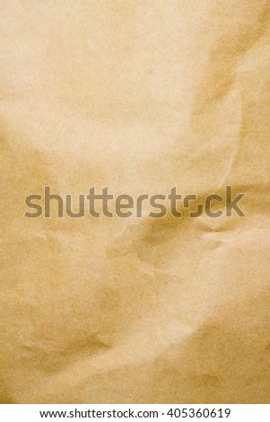 crumpled brown paper texture background
