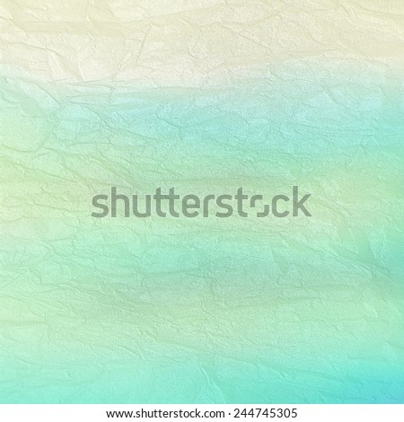 crumpled, damaged paper - vintage white and blue background - stock photo