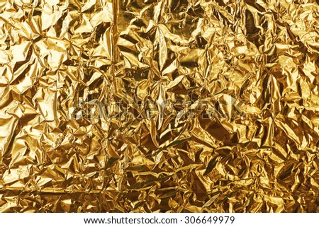 Crumpled foil texture background - stock photo