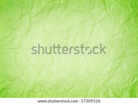 Crumpled green paper - stock photo