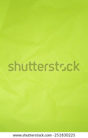 Crumpled green paper background. - stock photo