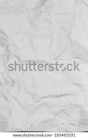 Crumpled grey paper background. Old gray paper texture as abstract grunge background. Grey paper sheet. - stock photo