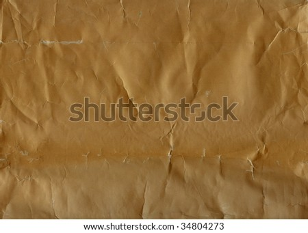 Crumpled, grungy paper background. Series - red. More available in my port. - stock photo