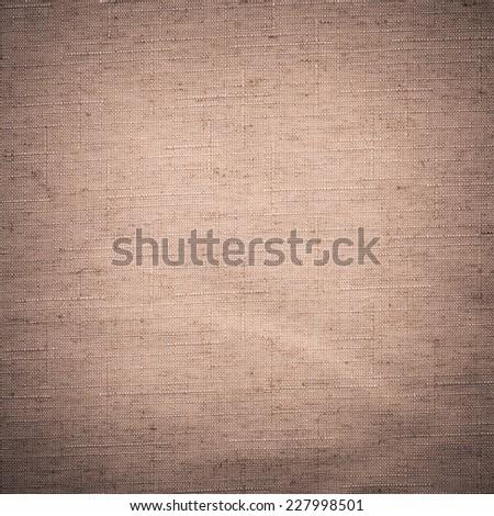 Crumpled Linen Texture - stock photo
