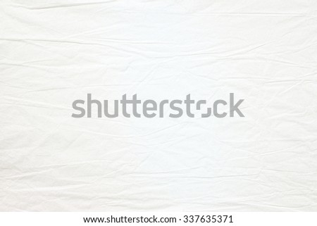 Crumpled old white paper - stock photo