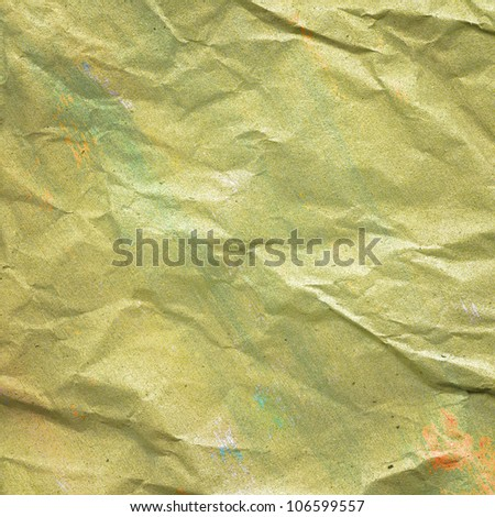 Crumpled, painted grunge paper texture