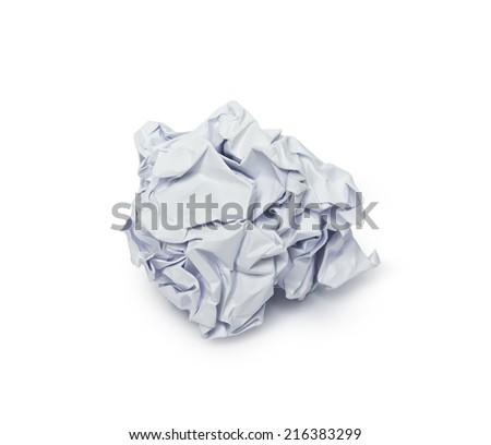 Crumpled paper ball - stock photo