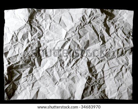 crumpled paper close up background - stock photo