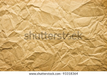 Crumpled paper for background usage - stock photo