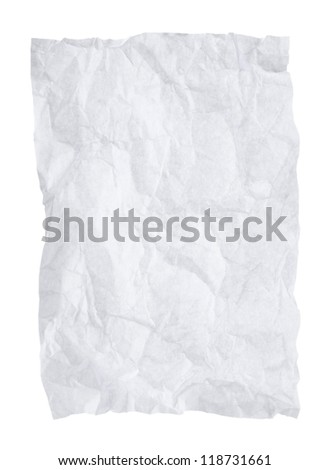 Crumpled paper isolated on a white background