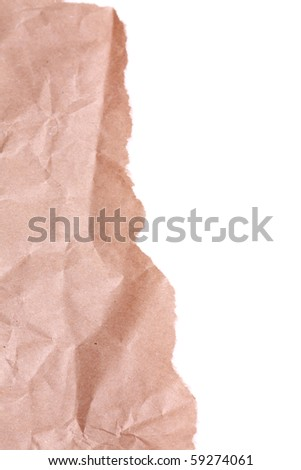 Crumpled paper. May be used as background. With copyspace - stock photo