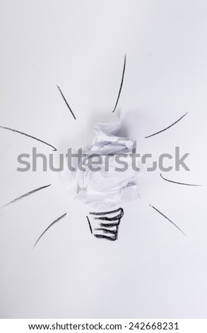Crumpled paper on a white background - stock photo