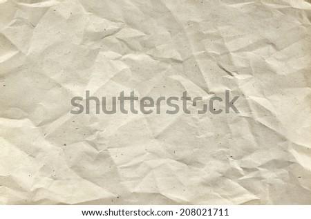 Crumpled paper texture - stock photo