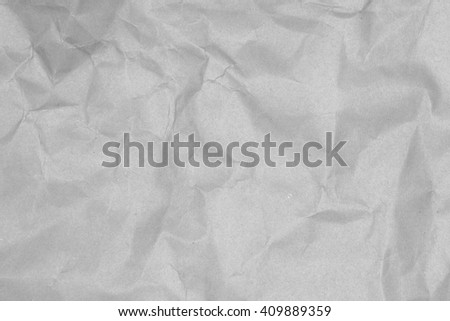 Crumpled paper texture for background - gray tone color - stock photo
