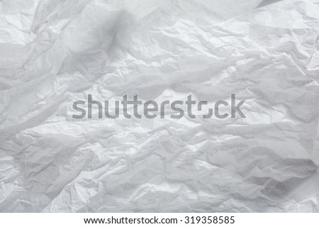 crumpled Paper texture. White paper