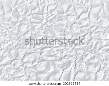 Crumpled paper. White paper texture
