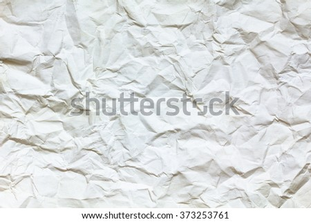Crumpled pink paper. Painted watercolors. - stock photo