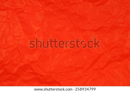 Crumpled red paper - stock photo