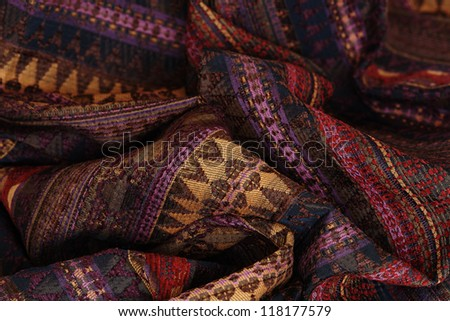 crumpled textile background