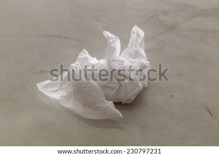Crumpled tissue paper  - stock photo