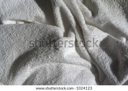 Crumpled towel - stock photo